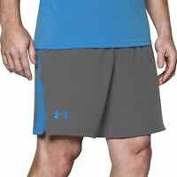 Under Armour Mens Cage Shorts Training Fitness Running Bottoms Grey 1304127-040