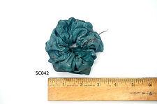 Silk Scrunchies Ponytail Holder Elastic Ties Hair Band Blue Green Floral SC042
