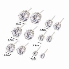 6 Pair Different Size Crystal Rhinestone Ear Stud Women Ladies Earrings Jewelry