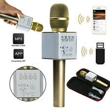Q9 Wireless Karaoke Bluetooth Microphone Speaker Handheld Stereo Player Home KTV
