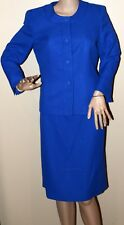 $200 New Evan Picone Royal Blue Skirt Dress Suit Blazer St Morritz Career 6