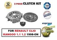 para Renault Clio Kangoo 1.1 1.2 1998-on Kit de embrague de 3 piezas calidad OE