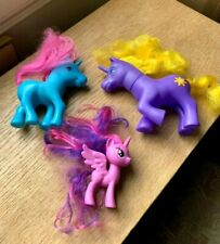 Set 3 My Little Pony type horses/unicorn - all different sizes in good condition