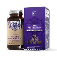 Trans Resveratrol   150mg   60 Capsules   Haute Teneur - Antioxydant Puissant
