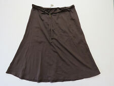 F-064 LADIES SEA FOLLY DARK BROWN STRETCH SKIRT SIZE 12 AS NEW