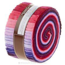 """Jelly roll di grandi dimensioni 40 x 2.5"""" x 42"""" Robert Kaufman Artisan Batiks PRISMA TINTE Prugna"""