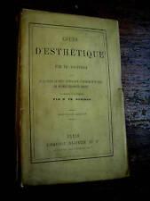 cours d'esthétique par jouffroy 1875 sentiment du beau