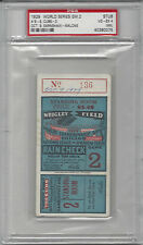 1929 World Series ticket stub Philadelphia A's Chicago Cubs Gm 2 PSA 4 Stand. Rm