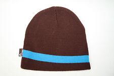 Knitted Beanie Winter Mens Ladies Kids Unisex Wooly Ski Warm Hat Vintage BROWN