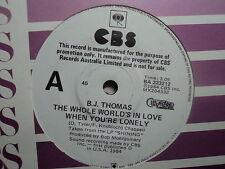 "B.J. Thomas ""The Whole World's In Love..""  PROMO Oz 7"""