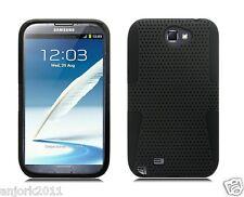 Samsung Galaxy Note II 2 MESH HYBRID HARD CASE SKIN COVER ACCESSORY BLACK