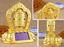 High quality All Alloy Prayer Wheel Buddhist Mantra Scriptures Solar FENG SHUI