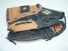 "Wilson Elite A0352 es13 13"" Leather Softball Glove - left Handed, flexback"