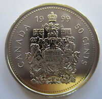 1999 CANADA 50 CENTS SPECIMEN HALF DOLLAR COIN