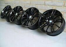 "Genuine BMW MV3 Staggered Alloy Wheels 18"" E46 E90 E92: Gloss Black M3 CSL BBS"