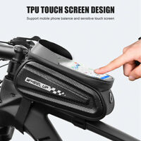 Bike Bicycle Handlebar Tube Front Top Tube Touchscreen Phone Bag Pouch Holder