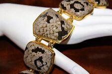KENNETH JAY LANE Couture Haute Couture Bold Snake Skin Runway Bracelet BRD4