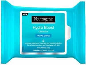 Neutrogena Hydro Boost Cleansing Facial Wipes with Hyaluronic Acid - Pack of 25