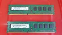 4GB Micron (2x 2gb) pair 1Rx8 10600U RAM MEMORY DDR3 PC3 240-pin DIMM desktop PC