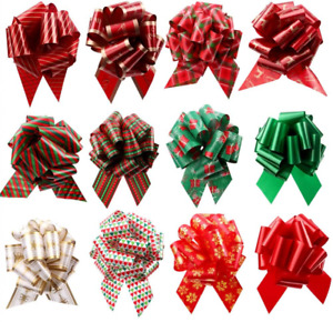 Frgasgds Pull Bows Bow 12 Pieces 4.7inch Wrapping Butterfly Xmas Flower...