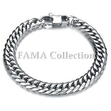 Top Quality FAMA 9mm Stainless Steel Chain Bracelet with Lobster Clasp