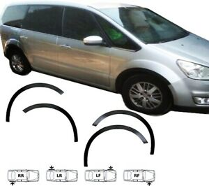 FORD GALAXY 06-14 wheel arch trims 4 pcs Black front rear wing styling kit Mk3