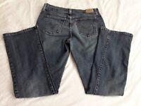 Women's Levi's 515 Bootcut Mid Rise Denim Blue Jeans-Sz 8M 8/30 Medium Wash