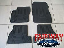 12 thru 16 Focus OEM Genuine Ford Black Rubber All-Weather Floor Mat Set 4-piece