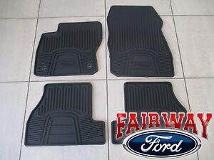 12 thru 16 Focus OEM Genuine Ford Black Rubber All-Weather Floor Mat Set 4-piece