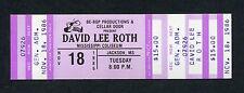 Original 1986 David Lee Roth unused concert ticket Diamond Dave Just A Gigolo