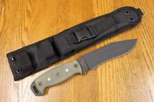 NEW Ontario Ranger 9420BMF Night Stalker NS6 Fixed Blade Knife & Sheath 5160