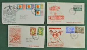 SRI LANKA CEYLON STAMP COVERS SELECTION OF 4  MOST FDC`S (G187)