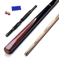 2 Pieces Cues Ash Snooker Pool Cue Set with Case for Tight Spaces SE09