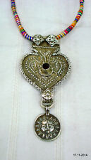 pendant sun god traditional jewelry vintage antique tribal old silver necklace