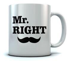 Mr. Right Coffee Mug Wedding Gift for Couples / Anniversary Gift Tea Ceramic Mug