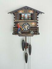 Vintage German Schmeckenbecher Cuckoo Clock - Chalet with Dancers and Trumpeter