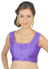 Polyester Silk Indian Traditional Bollywood Wedding Blouse Top Choli Sari Dupion