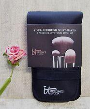IT Cosmetics YOUR AIRBRUSH MUST-HAVES 3-pc FACE & EYE Travel BRUSH SET ~ NIP!!