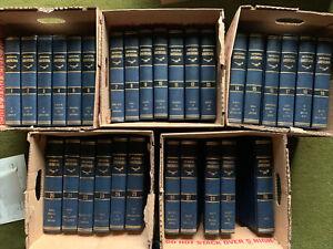 MINT The Encyclopedia Americana 30 Volume Set 1964 Complete Edition Blue