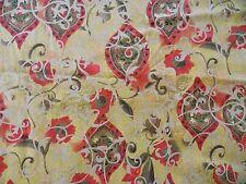 WtW Fabric Taj Mahal Floral Tapestry Pattern Scroll 1068 Ornate Floral   Quilt