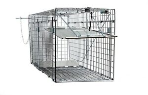 Large 1 Door Collapsible Catch Release Heavy Duty Cage Live Animal Trap 32x10x12