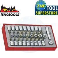 Teng 30pc 3/8in Torx & Socket Bit Set TX TPX TX-E TTTX30 - Tool Control System