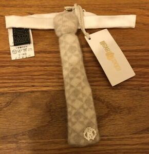 Roberto Cavalli Baby Boys Beige And Cream Wool Neck Tie Perfect For Holiday