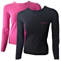 T-shirt Maglia Maniche Lunghe Denny Rose Girocollo Donna Logo Woman Crew Neck Lo