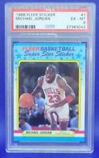 MICHAEL JORDAN PSA 6 1988 FLEER STICKER #7 EX-MT Chicago Bulls NBA HOF GOAT 23