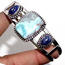 Plated Adjustable Bangle Jewelry Gw Larimar Lapis Lazuli 925 Sterling Silver
