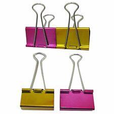 4 Piezas Color Metalizado Binder Clip Fold-Back multi propósito clip - 51 mm