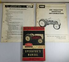 Operators Manual Ford Model 8n Tractor Part Number 3729 52 C Plus Service Info