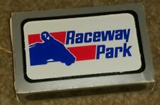 Raceway Park defunct off site betting Horse Racing track Promo Playing Cards old