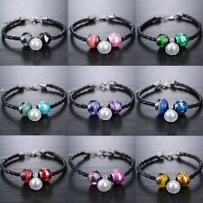 Unbranded Leather Alloy Pearl Fashion Bracelets